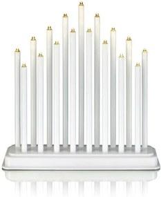 Biely LED svietnik Markslöjd Chester, výška 30 cm