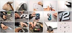 ISO, Dizajnové 3D nalepovacie hodiny 130cm