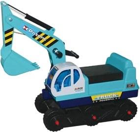 G21 Detský bager pásový, modrý