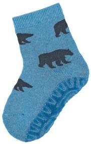 Sterntaler ponožky ABS protiskluzové chodidlo SOFT medvědi, modré 8142004