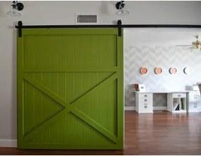 Americké retro posuvné dvere 215x100cm pre posuvný systém Retro / Barn, smrek