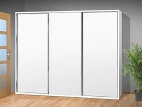 Šatníková skriňa s posuvnými dverami Alfa 35 farba lamina: biela 113