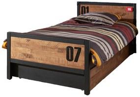 Detská posteľ s zásuvkou Alex AXBE9019-AXRB9019 - Posteľ: 209x75x97 cm