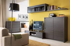 BLACK RED WHITE Kaspian obývacia izba wenge