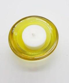 Čajové bezobalové sviečky variant: 1, IBA SVIETNIK, farba svietnika: žltá