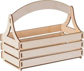 Drevobox Drevený košík z preglejky