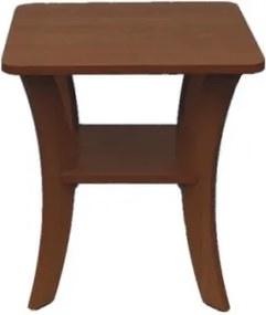 Odkladací stolík štvorec 51 x 51 cm oblé nohy - Buk