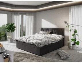 Moderná posteľ s úložným priestorom 140x200 STIG 3 - antracit