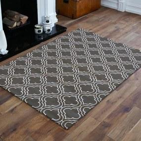 DomTextilu Škandinávsky koberec v sivej farbe s bielym vzorom 17594-128924