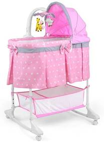 MILLY MALLY Nezaradené Multifunkčná kolíska Milly Mally Sweet Melody Pink Ružová |