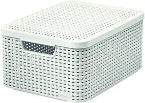 CURVER STYLE M box s vekom 39,3 x 29,3 x 18,7 cm krémový 03618-885