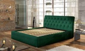 Moderná posteľ Marseille 200x200cm, čierna