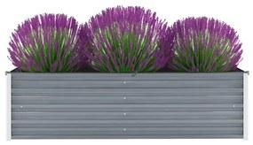vidaXL Vyvýšený záhradný záhon, pozinkovaná oceľ 160x40x45 cm, sivý
