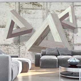 Fototapeta - Šedé triangle 200x140 + zadarmo lepidlo