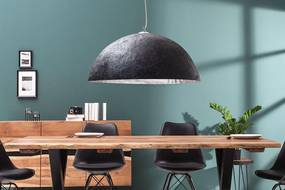 Závesné svietidlo Heat 50 cm / čierna - strieborná