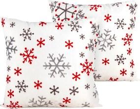 4Home Obliečka na vakúšik Snowflakes, biela, 40 x 40 cm