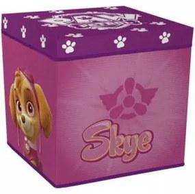 Úložný box s vrchnákom / taburetka  2v1 PAW PATROL Pink ARDITEX PAW0967