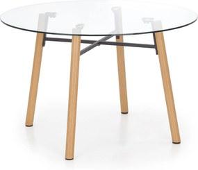 Sklenený jedálenský stôl Yoko