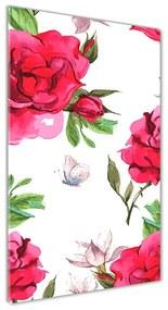 Foto obraz akrylový do obývačky Červené ruže pl-oa-70x140-f-85695644