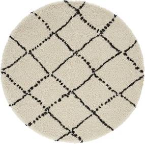 Mint Rugs - Hanse Home koberce Kusový koberec Allure 102753 Cream/Black - 120x120 (průměr) kruh cm