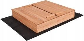 Pietronet Impregnované pieskovisko s lavičkami 120cm + krycia plachta + agrotextília + DARČEK