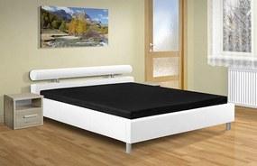 Moderné dvojlôžko Doroty 160x200 cm s úložným priestorom Barva: eko bílá
