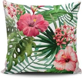 Vankúš s prímesou bavlny Cushion Love Jungle Flowers, 45 × 45 cm