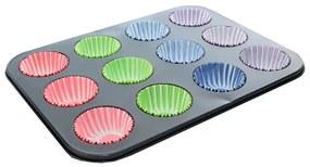 Forma na muffiny plus 72 papierových košíčkov