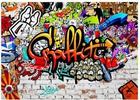 Veľkoformátová tapeta Bimago Colourful Graffiti, 350 × 245 cm