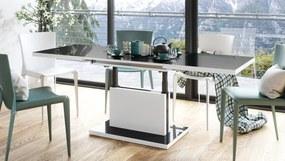 ASTON rozkladací, zdvíhací, konferenčný stolík, čiernobiely