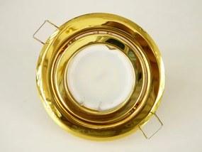 T-LED LED bodové svetlo do sadrokartónu 3W zlatá 230V výklopné Farba svetla: Teplá biela