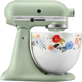 Kuchynský robot KitchenAid Artisan KSM 156, Whispering Floral, pistáciová