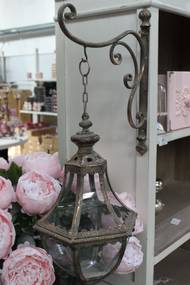 Medený závesný lampáš s držiakom 70cm