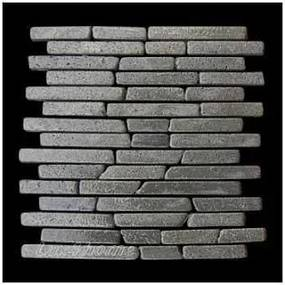 Mozaika z andezitu Parquet Black Candi Alur Style, 1× sieťka VZORKA
