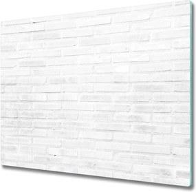 Sklenená doska na krájanie  tehlová múr