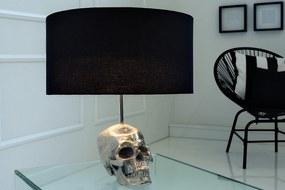 Bighome - Stolná lampa SKILL 44 cm - čierna, strieborná