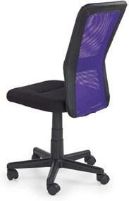 Dětská židle Corso, barva: černá / fialová