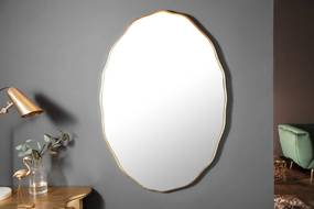 Dizajnové nástenné zrkadlo Cason 100 cm zlaté