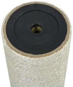 vidaXL Stĺpik na škrabanie pre mačky, 8x30 cm, 10 mm, béžový