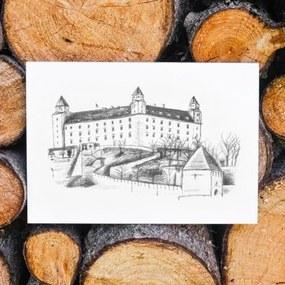 Drevený obraz na stenu - Bratislavský hrad