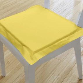 Goldea podsedák s ozdobným lemom 38x38 cm - suzy - žltý 38 x 38 cm