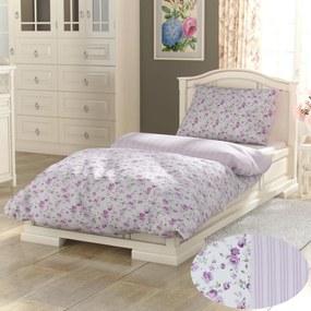 Kvalitex Bavlnené obliečky Provence Viento ružová, 240 x 220 cm, 2 ks 70 x 90 cm