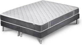 Sivý matrac s 2 boxspringmi Stella Cadente Syrius, 140 × 200 cm
