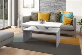 SISI biela / betón (šedá), konferenčný stolík