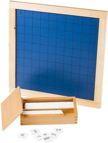 Montessori pomůcky stovkovej tabule