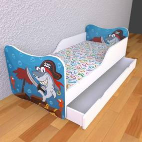 Moje Kráľovstvo Detská posteľ 140cm x 70cm Piráti
