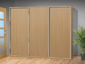 Nabytekmorava šatníková skriňa s posuvnými dverami Alfa 35 farba lamina: buk 381