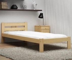 AMI nábytok Postel borovice není lakovaná ESM1 VitBed 100x200cm