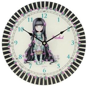 Santoro farebné nástenné hodiny Gorjuss Rosie/Rosebud