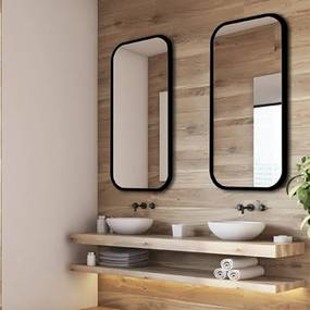 Dizajnové zrkadlo Mirel čierne dz-mirel-cierne-2980 zrcadla